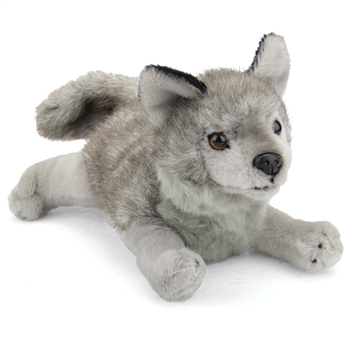 Stuffed Gray Wolf Conservation Critter by Wildlife Artists