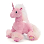 Stuffed Pink Unicorn Conservation Critter by Wildlife Artists