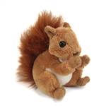 Stuffed Red Squirrel Conservation Critter by Wildlife Artists