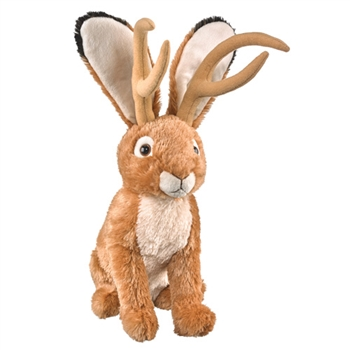 Plush Jackalope 16 Inch Conservation Critter by Wildlife Artists