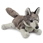 Large Stuffed Gray Wolf Conservation Critter by Wildlife Artists