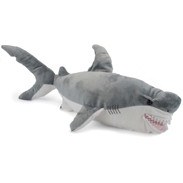 Large Plush Great White Shark Conservation Critter By Wildlife