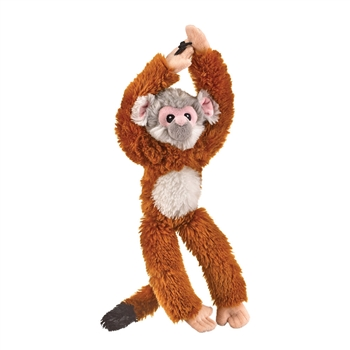 Stuffed Hanging Squirrel Monkey Eco Pals Plush by Wildlife Artists