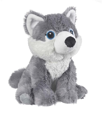 Stuffed Gray Wolf Eco Pals Plush by Wildlife Artists