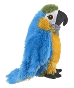 Stuffed Blue and Gold Macaw Eco Pals Plush by Wildlife Artists