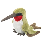 Plush Ruby Throated Hummingbird Finger Puppet by Wildlife Artists