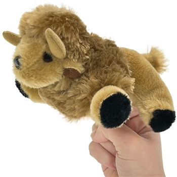 Plush Bison Finger Puppet Play Critter by Wildlife Artists