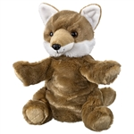 Plush Coyote Puppet Eco Pals by Wildlife Artists