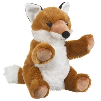 Plush Red Fox Puppet Eco Pals by Wildlife Artists