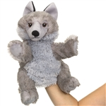 Plush Wolf Puppet Eco Pals by Wildlife Artists