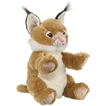Plush Bobcat Puppet Eco Pals by Wildlife Artists