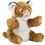 Plush Tiger Puppet Eco Pals by Wildlife Artists