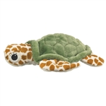 Plush Green Sea Turtle Puppet Eco Pals by Wildlife Artists