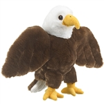Plush Bald Eagle Puppet Eco Pals by Wildlife Artists