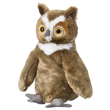 Plush Great Horned Owl Puppet Eco Pals by Wildlife Artists
