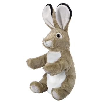Plush Jackrabbit Puppet Eco Pals by Wildlife Artists