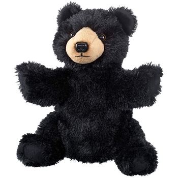 Plush Black Bear Puppet Eco Pals by Wildlife Artists