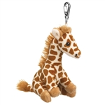 Small of the Wild Clip On Stuffed Giraffe by Wildlife Artists