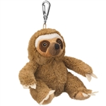 Small of the Wild Clip On Stuffed Sloth by Wildlife Artists