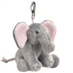 Small of the Wild Clip On Stuffed Elephant by Wildlife Artists