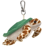 Small of the Wild Clip On Stuffed Sea Turtle by Wildlife Artists