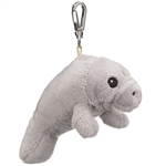 Eco Pals Clip On Stuffed Manatee by Wildlife Artists