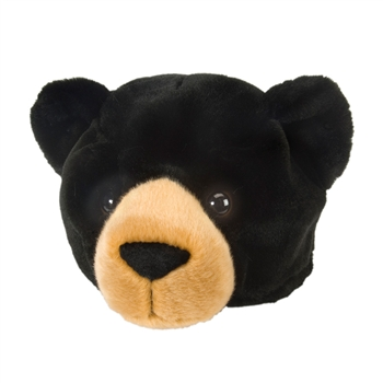 Black Bear Plush Animal Hat By Wild Republic
