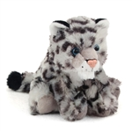 Baby Stuffed Snow Leopard Mini Cuddlekin by Wild Republic