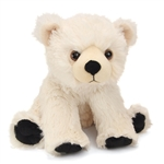 Baby Plush Polar Bear 9  Inch Stuffed Bear Cuddlekin By Wild Republic