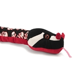 Stuffed Black and Red Snake with Skulls by Wild Republic