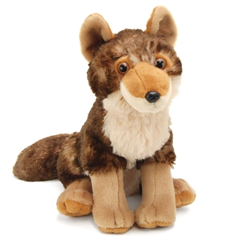 Stuffed Coyote 12 Inch Cuddlekin by Wild Republic