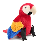 Stuffed Scarlet Macaw 12 Inch Cuddlekin by Wild Republic