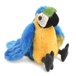 Stuffed Blue and Yellow Macaw Mini Cuddlekin by Wild Republic