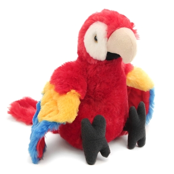 Stuffed Scarlet Macaw Mini Cuddlekin by Wild Republic
