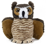 Stuffed Great Horned Owl 12 Inch Cuddlekin by Wild Republic