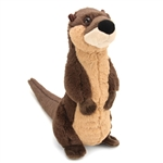 Standing Stuffed River Otter Mini Cuddlekin by Wild Republic