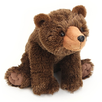 Stuffed Grizzly Bear 12 Inch Cuddlekin by Wild Republic