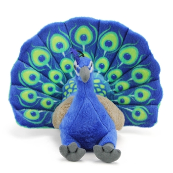 Cuddlekins Peacock Stuffed Animal by Wild Republic