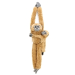 Hanging Stuffed Common Langur with Baby by Wild Republic