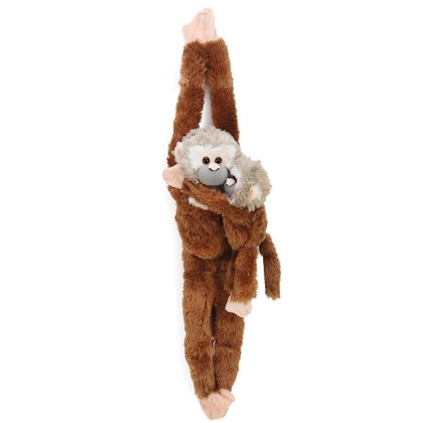 Hanging Stuffed Squirrel Monkey W Baby Wild Republic Stuffed Safari
