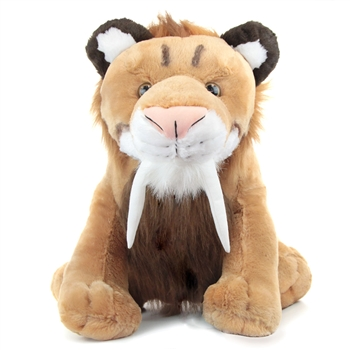 Jumbo Plush Saber-Toothed Tiger 30 Inch Cuddlekin by Wild Republic