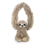 Hanging Sloth Stuffed Animal with Velcro Hands by Wild Republic