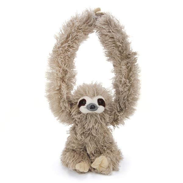 hanging sloth stuffed animal w velcro hands wild republic