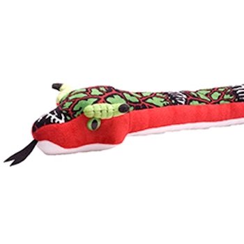 Dragonbone Print 54 Inch Plush Red Snake by Wild Republic