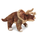 Dinosauria Realistic Triceratops Stuffed Animal by Wild Republic