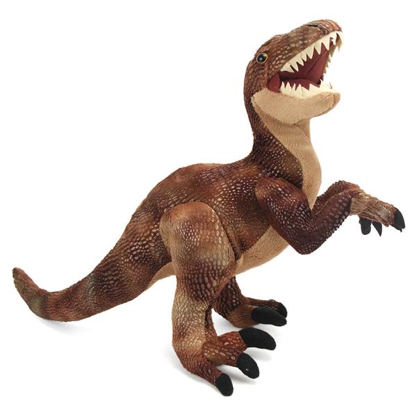realistic velociraptor stuffed animal dinosauria by wild republic