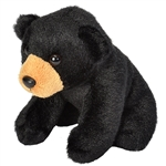 Small Plush Black Bear Lil' Cuddlekins by Wild Republic
