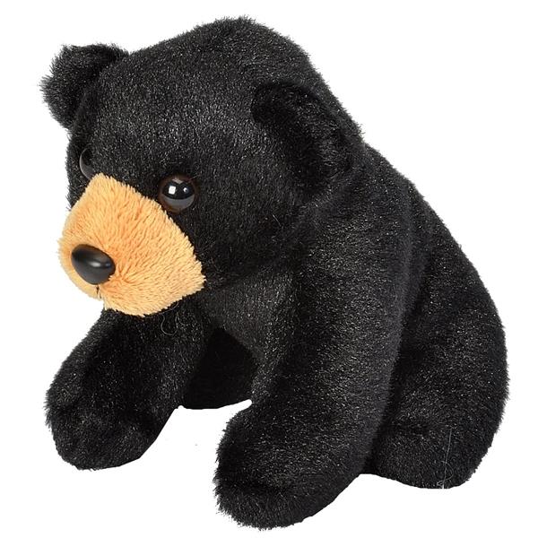 Small Plush Black Bear Lil Cuddlekins By Wild Republic Stuffed