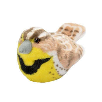 Plush Western Meadowlark Audubon Bird with Sound by Wild Republic