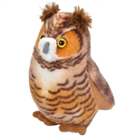 Plush Great Horned Owl Audubon Bird with Sound by Wild Republic